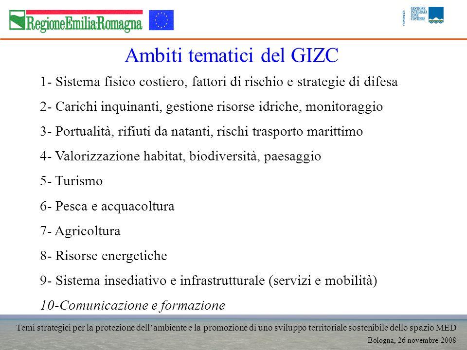 Temi strategici per la protezione dellambiente e la promozione di uno sviluppo territoriale sostenibile dello spazio MED Bologna, 26 novembre 2008 1-