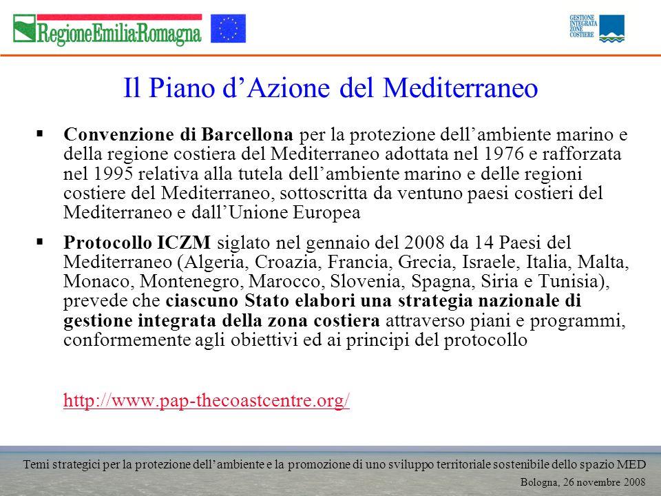 Temi strategici per la protezione dellambiente e la promozione di uno sviluppo territoriale sostenibile dello spazio MED Bologna, 26 novembre 2008 Il
