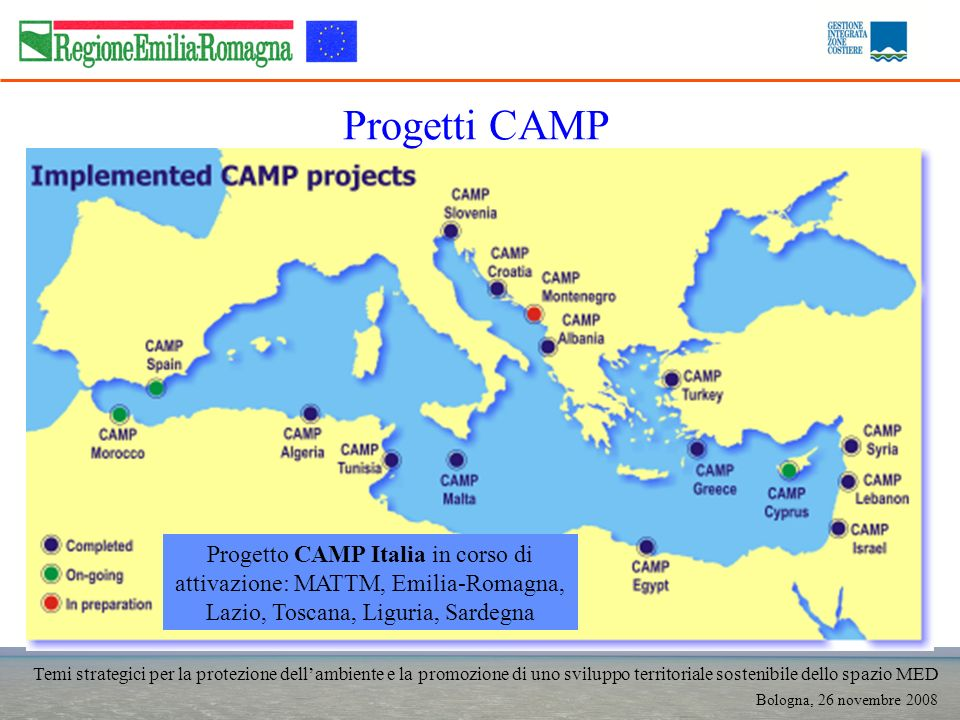 Temi strategici per la protezione dellambiente e la promozione di uno sviluppo territoriale sostenibile dello spazio MED Bologna, 26 novembre 2008 Pro