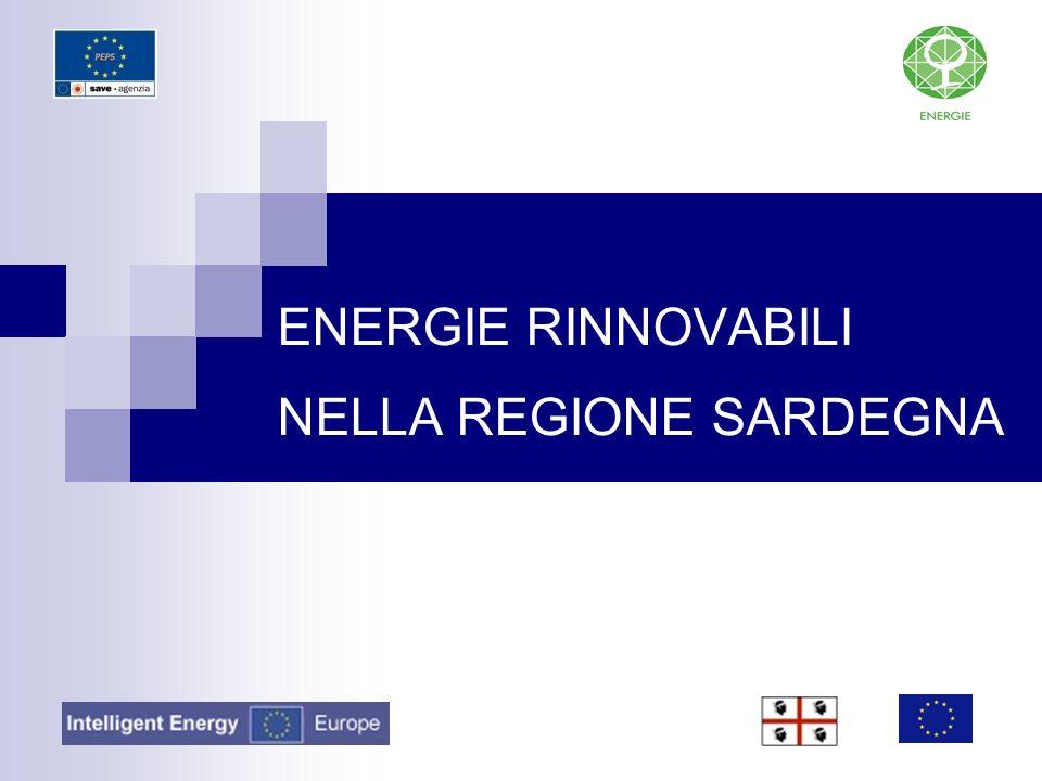 ENERGIE RINNOVABILI NELLA REGIONE SARDEGNA
