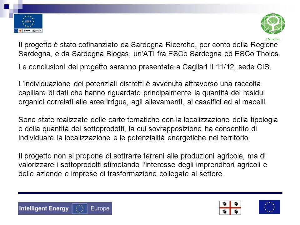 Il progetto è stato cofinanziato da Sardegna Ricerche, per conto della Regione Sardegna, e da Sardegna Biogas, unATI fra ESCo Sardegna ed ESCo Tholos.
