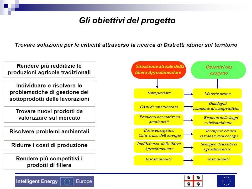 Sottoprodotti Costi di smaltimento Problemi normativi ed ambientali Costo energetico Cattivo uso dell'energia Inefficienza della filiera Agroalimentar