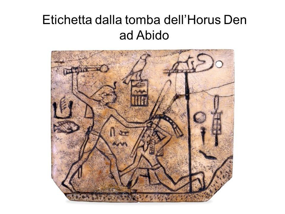 Etichetta dalla tomba dellHorus Den ad Abido
