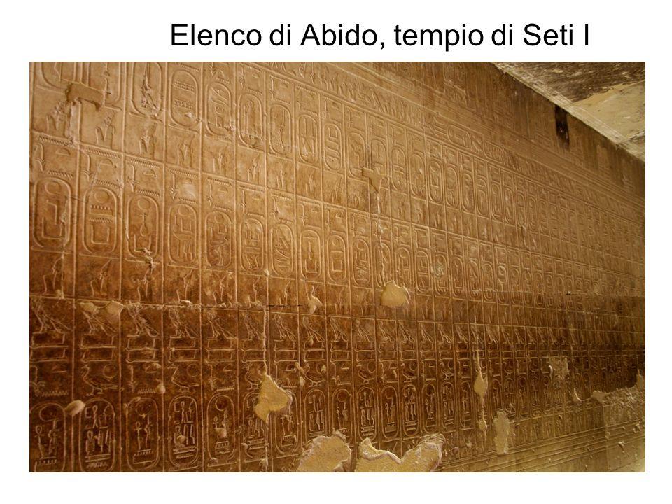 Elenco di Abido, tempio di Seti I