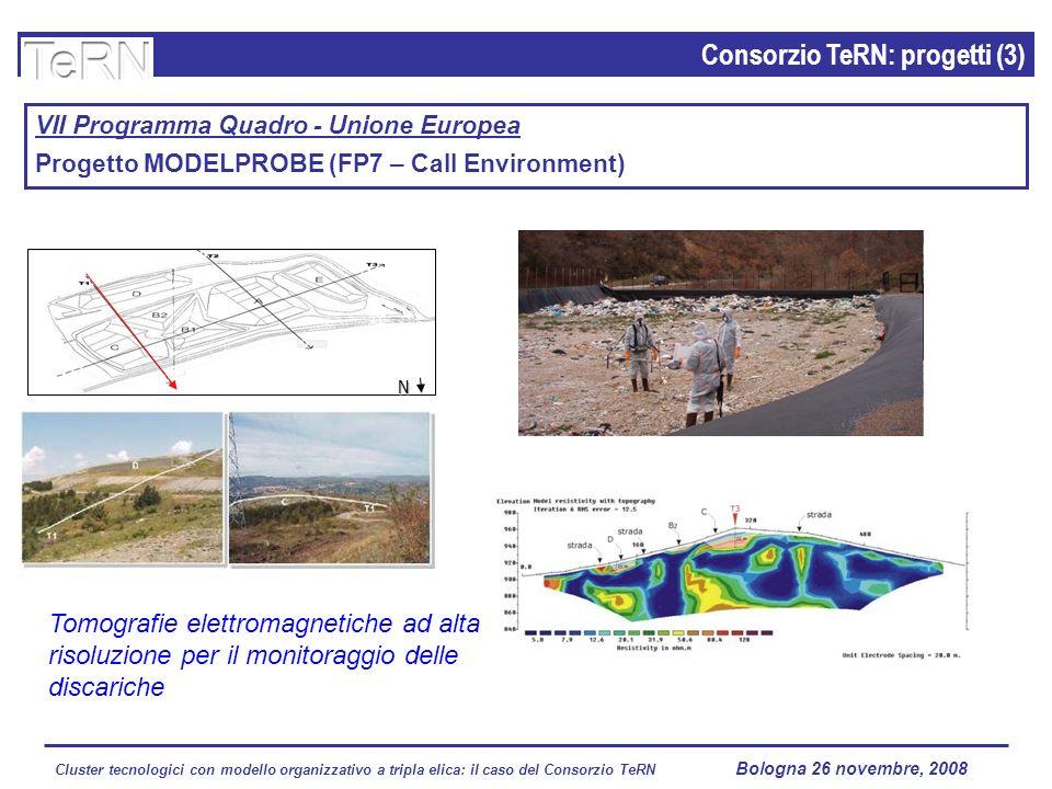 Cluster tecnologici con modello organizzativo a tripla elica: il caso del Consorzio TeRN Lagopesole 16 ottobre 2008 Consorzio TeRN: progetti (3) VII P