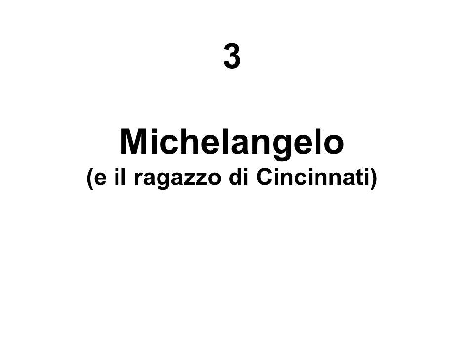 3 Michelangelo (e il ragazzo di Cincinnati)