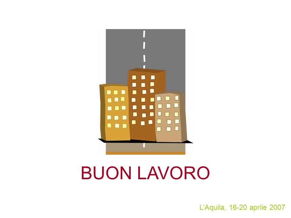 LAquila, 16-20 aprile 2007 BUON LAVORO