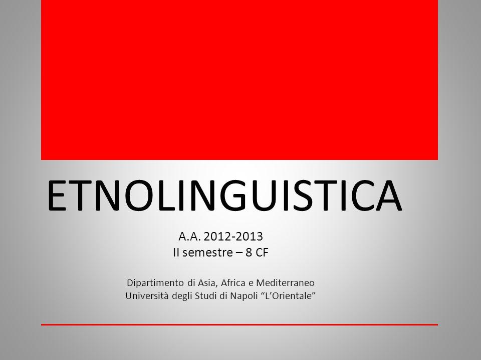 ETNOLINGUISTICA A.A.