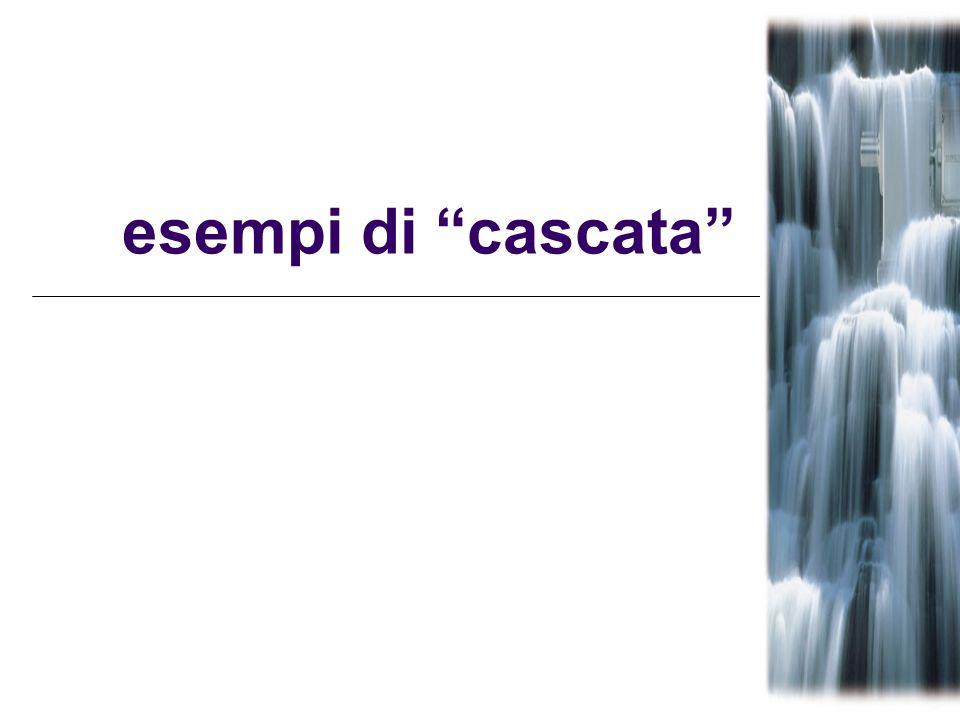 esempi di cascata