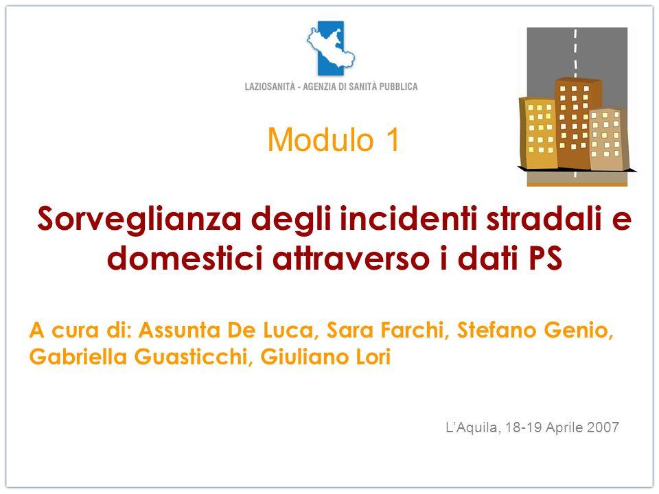 LAquila, 16 aprile 2007 Obiettivo del Modulo: fornire agli operatori, referenti per gli interventi e formalmente individuati dalle Regioni, strumenti utili alla progettazione e assistenza allimplementazione dei programmi.