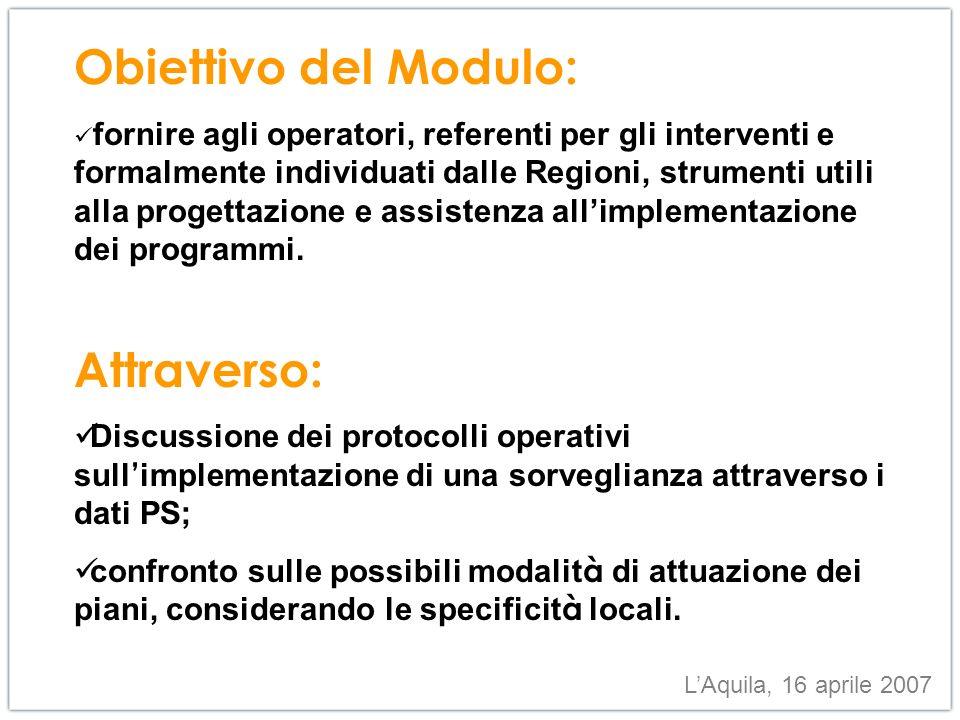 Obiettivo: monitoraggio degli incidenti domestici/stradali attraverso lanalisi degli accessi in pronto soccorso.