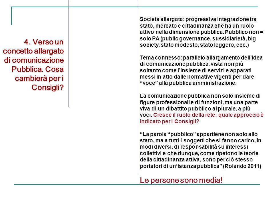 4. Verso un concetto allargato di comunicazione Pubblica.