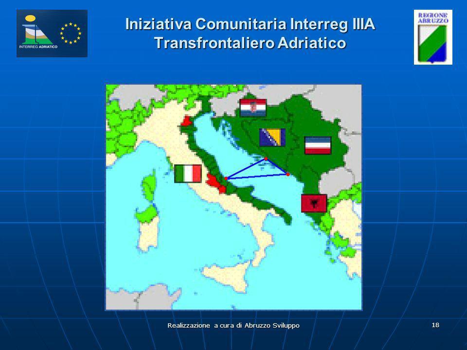 Realizzazione a cura di Abruzzo Sviluppo 18 Iniziativa Comunitaria Interreg IIIA Transfrontaliero Adriatico