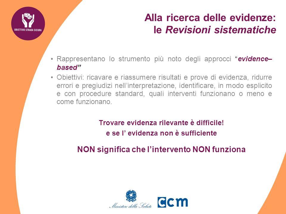 Rappresentano lo strumento più noto degli approcci evidence– based Obiettivi: ricavare e riassumere risultati e prove di evidenza, ridurre errori e pr