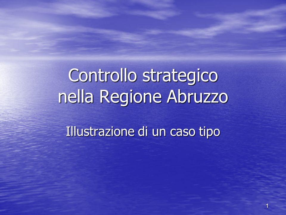 1 Controllo strategico nella Regione Abruzzo Illustrazione di un caso tipo