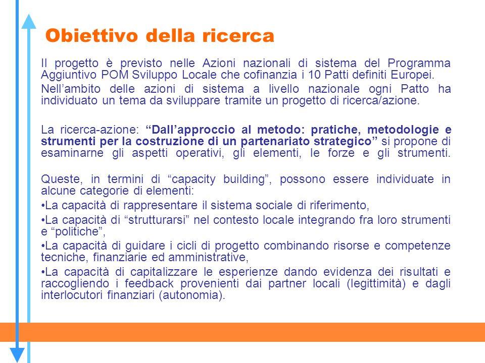 Il percorso di analisi In particolare il percorso di analisi, che utilizzerà la realtà abruzzese come riferimento operativo, si svolgerà in quattro fasi successive: 1.Ricognizione delle iniziative e delle aggregazioni partenariali in atto nei sistemi locali del territorio della Regione Abruzzo.