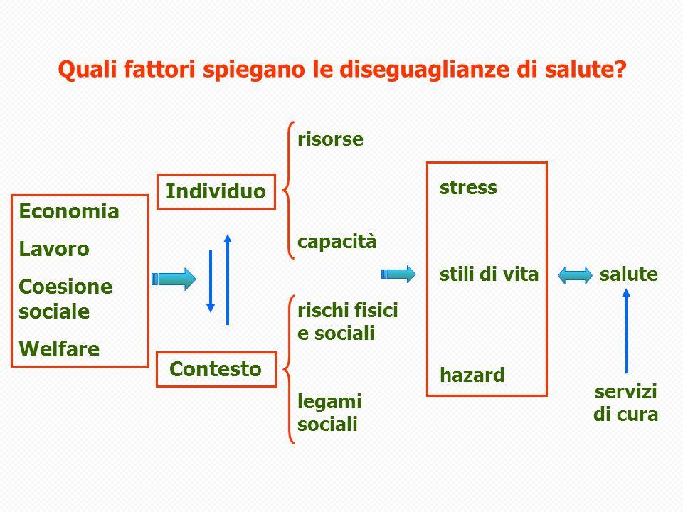 Modello di genesi delle diseguaglianze: multi-level and multi-time accumulation (life course)