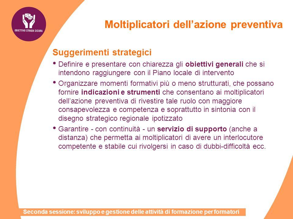 Suggerimenti strategici Definire e presentare con chiarezza gli obiettivi generali che si intendono raggiungere con il Piano locale di intervento Orga