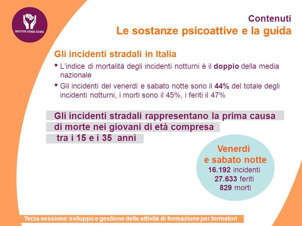 Gli incidenti stradali in Italia Lindice di mortalità degli incidenti notturni è il doppio della media nazionale Gli incidenti del venerdì e sabato no