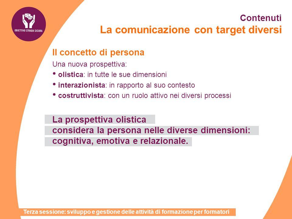 Il concetto di persona Una nuova prospettiva: olistica: in tutte le sue dimensioni interazionista: in rapporto al suo contesto costruttivista: con un