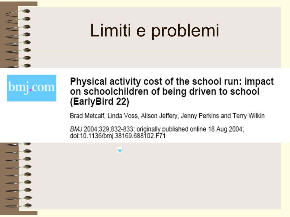 Limiti e problemi