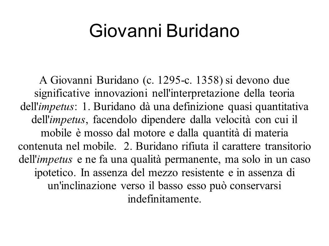 Giovanni Buridano A Giovanni Buridano (c. 1295-c.