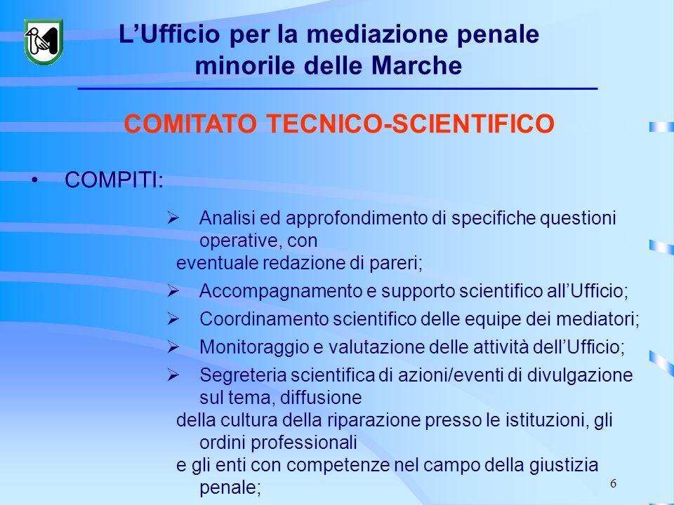 6 COMITATO TECNICO-SCIENTIFICO COMPITI: Analisi ed approfondimento di specifiche questioni operative, con eventuale redazione di pareri; Accompagnamen