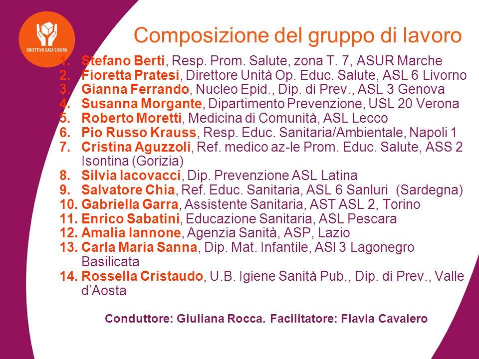 1.Stefano Berti, Resp. Prom. Salute, zona T.