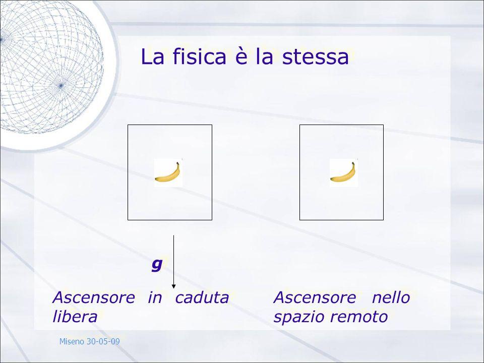 g g Ascensore in caduta libera Ascensore nello spazio remoto La fisica è la stessa Miseno 30-05-09