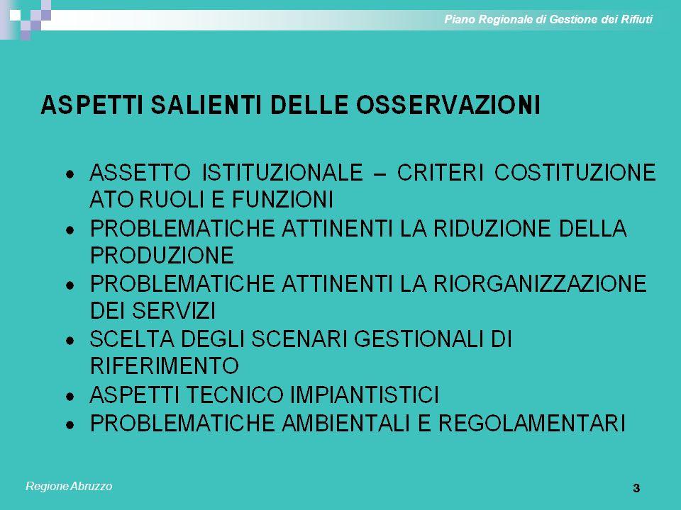 3 Piano Regionale di Gestione dei Rifiuti Regione Abruzzo