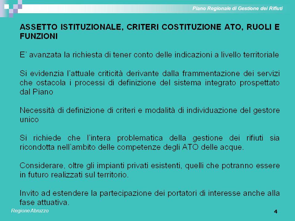 4 Piano Regionale di Gestione dei Rifiuti Regione Abruzzo