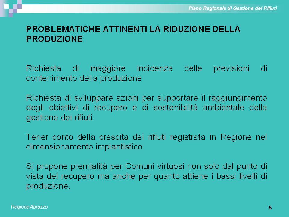 5 Piano Regionale di Gestione dei Rifiuti Regione Abruzzo