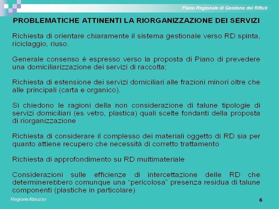 6 Piano Regionale di Gestione dei Rifiuti Regione Abruzzo