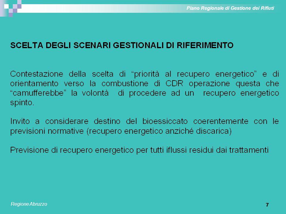 7 Piano Regionale di Gestione dei Rifiuti Regione Abruzzo