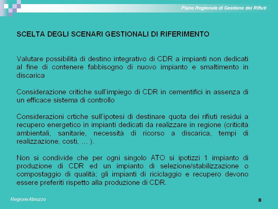8 Piano Regionale di Gestione dei Rifiuti Regione Abruzzo