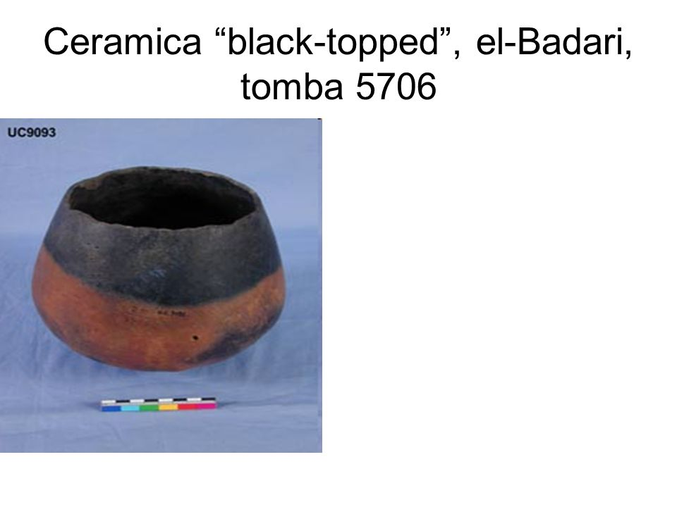 Ceramica black-topped, el-Badari, tomba 5706