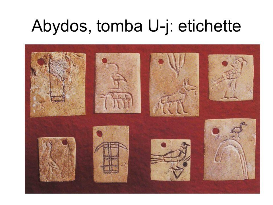 Abydos, tomba U-j: etichette