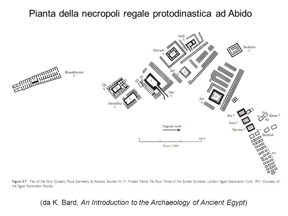 (da K. Bard, An Introduction to the Archaeology of Ancient Egypt) Pianta della necropoli regale protodinastica ad Abido