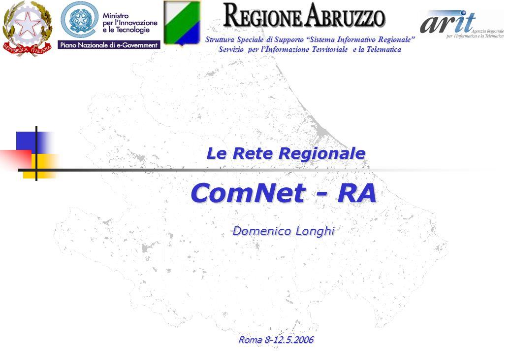 Roma 8-12.5.2006 Le Rete Regionale ComNet - RA Domenico Longhi Struttura Speciale di Supporto Sistema Informativo Regionale Servizio per lInformazione Territoriale e la Telematica