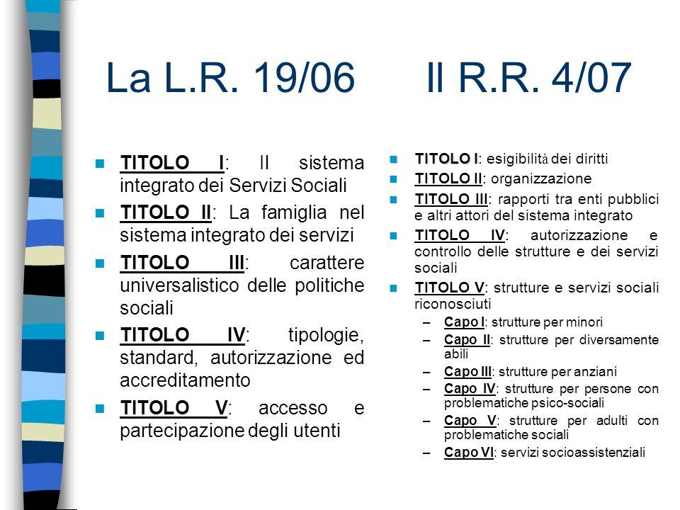 L.R.19/06 – TITOLO I Principi generali (art.