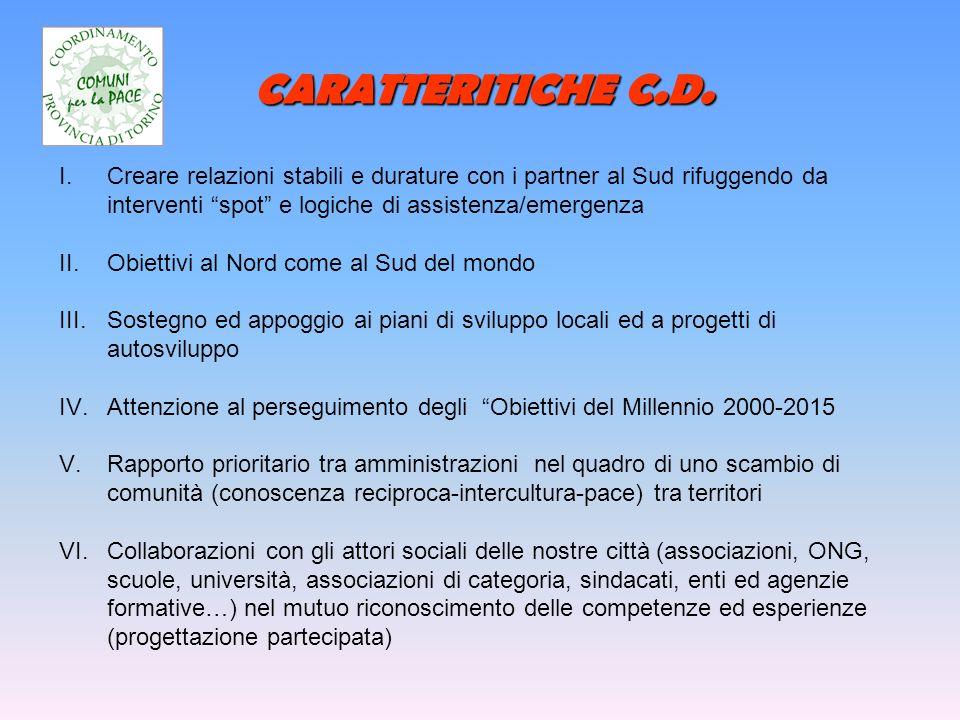 CARATTERITICHE C.D.