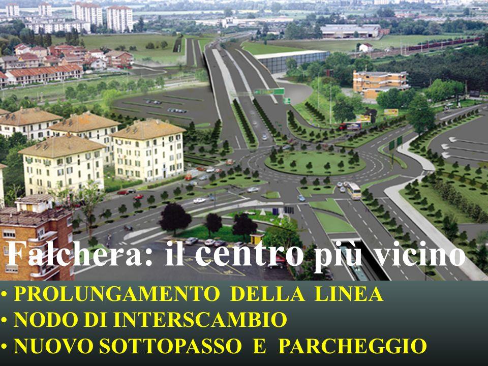 Falchera: il centro più vicino PROLUNGAMENTO DELLA LINEA NODO DI INTERSCAMBIO NUOVO SOTTOPASSO E PARCHEGGIO