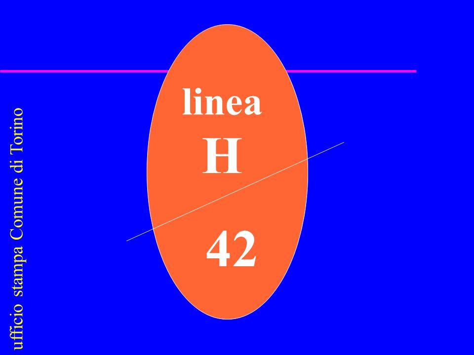 u f f i c i o s t a m p a C o m u n e d i T o r i n o linea H 42