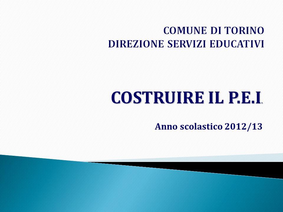 COSTRUIRE IL P.E.I. Anno scolastico 2012/13