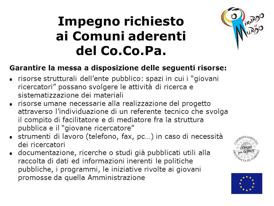 Impegno richiesto ai Comuni aderenti del Co.Co.Pa.