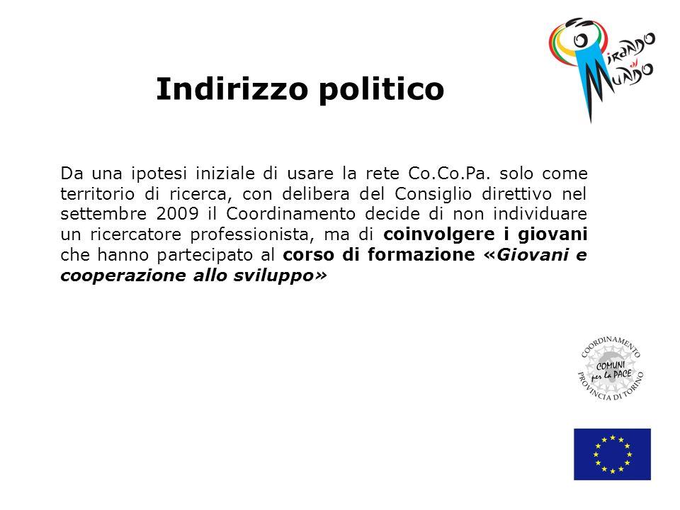 Indirizzo politico Da una ipotesi iniziale di usare la rete Co.Co.Pa.