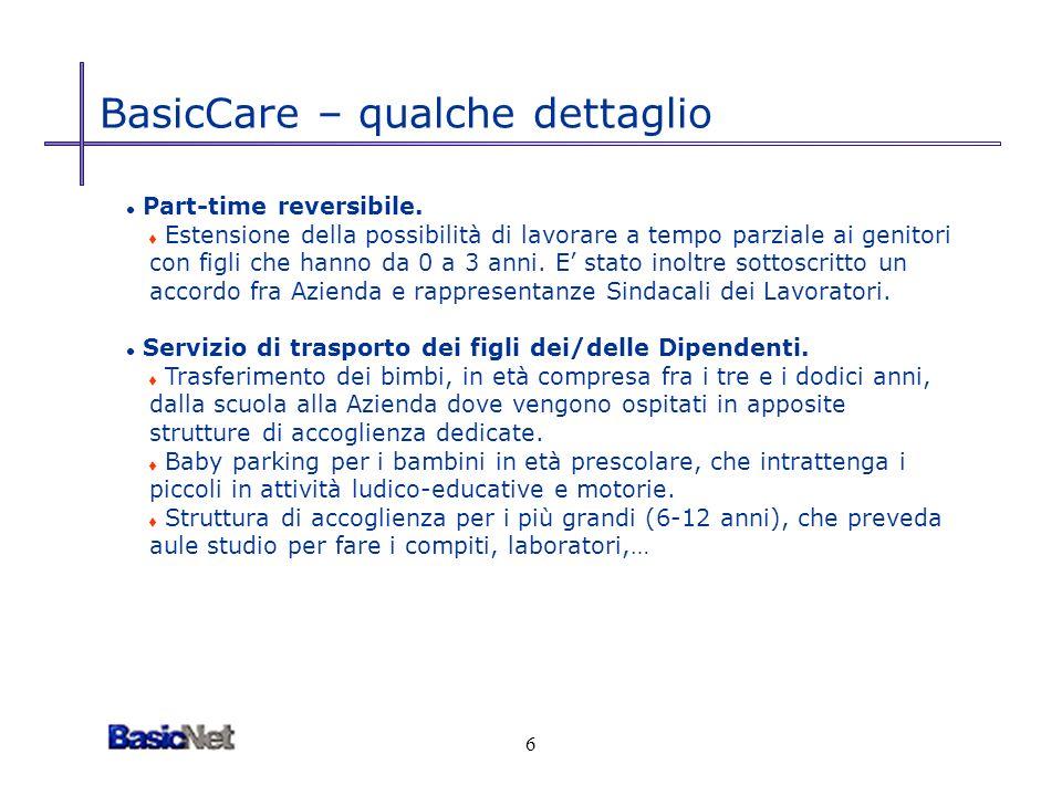 6 BasicCare – qualche dettaglio l Part-time reversibile.