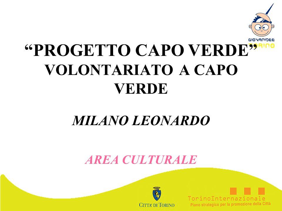 PROGETTO CAPO VERDE VOLONTARIATO A CAPO VERDE MILANO LEONARDO AREA CULTURALE