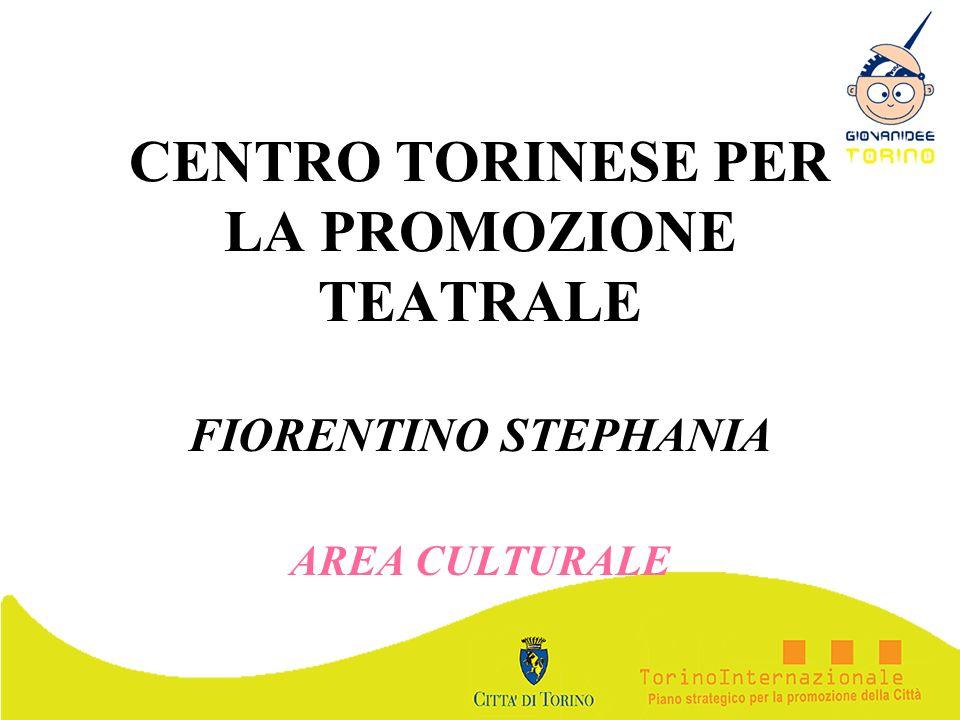 CENTRO TORINESE PER LA PROMOZIONE TEATRALE FIORENTINO STEPHANIA AREA CULTURALE