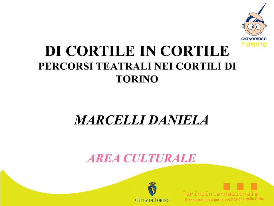 DI CORTILE IN CORTILE PERCORSI TEATRALI NEI CORTILI DI TORINO MARCELLI DANIELA AREA CULTURALE